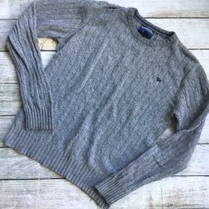 {Aeropostale} Men's Wool Crewneck Sweater